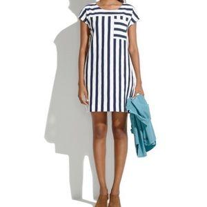 Madewell dress zip up stripe